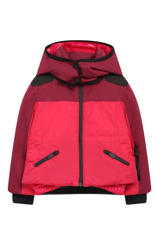 Купить Куртка на молнии с капюшоном Moncler Enfant, D2-954-46877-35-53066/4-6A, Армения, Бордовый, Подкладка-полиамид: 100%; Полиамид: 100%;
