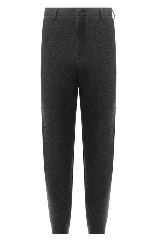 Купить Шерстяные брюки Balenciaga, 542640/T1509, Италия, Серый, Шерсть: 58%; Полиамид: 41%; Эластан: 1%;