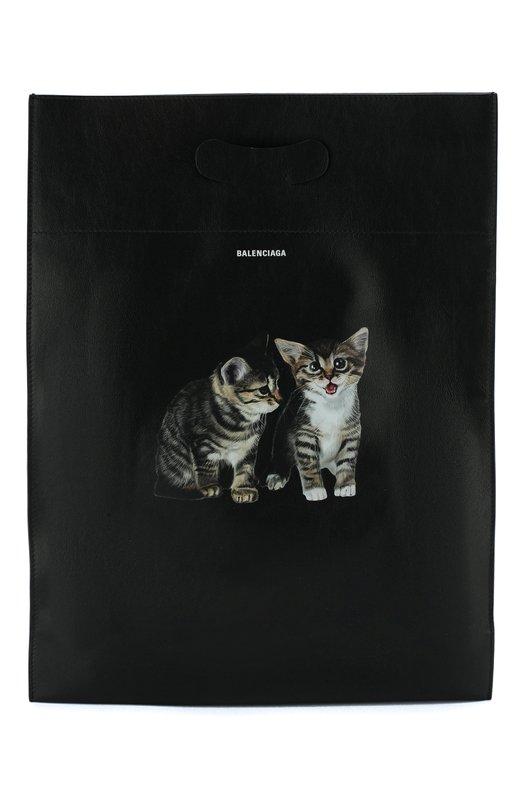 Купить Кожаная сумка-шоппер Balenciaga, 541908/0XTFN, Италия, Черный, Кожа: 100%;