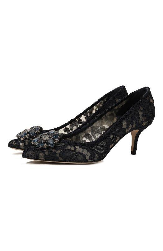 Купить Кружевные туфли Rainbow Lace Dolce & Gabbana, CD0066/AL198, Италия, Темно-синий, Подкладка-текстиль: 52%; Подкладка-кожа: 48%; Низ-кожа: 100%; Подошва-кожа: 100%; Стелька-кожа: 100%; Текстиль: 100%;