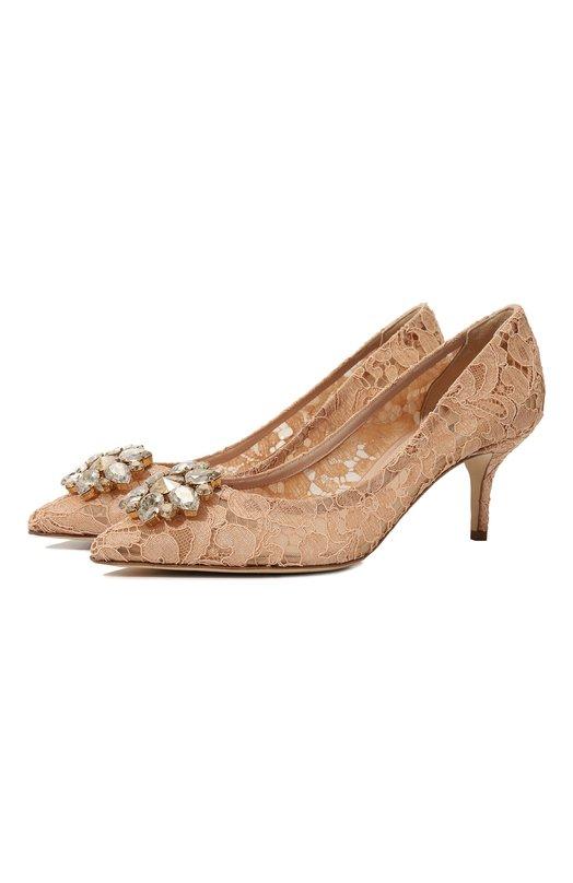 Купить Кружевные туфли Rainbow Lace Dolce & Gabbana, CD0066/AL198, Италия, Светло-бежевый, Подкладка-текстиль: 52%; Подкладка-кожа: 48%; Низ-кожа: 100%; Подошва-кожа: 100%; Стелька-кожа: 100%; Текстиль: 100%;