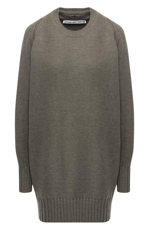 Шерстяной пуловер с молнией Alexander Wang