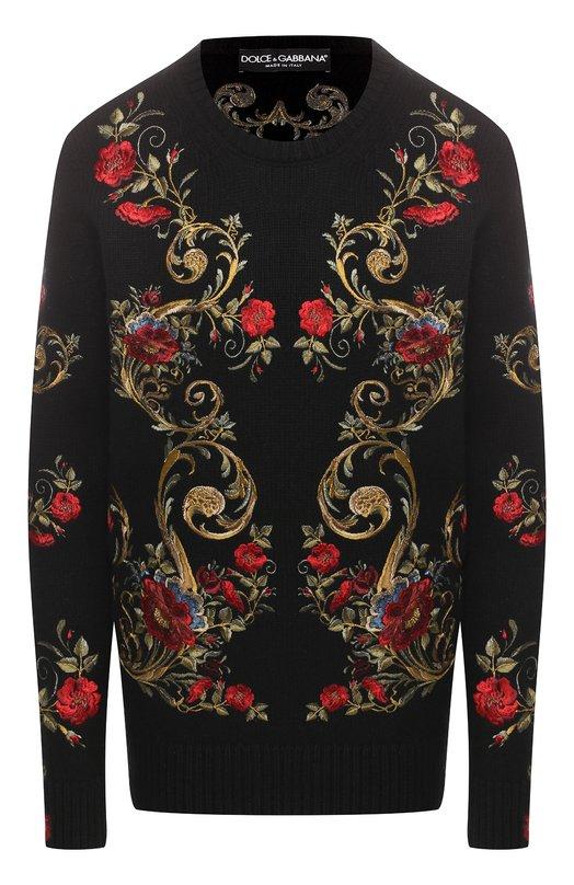 Купить Кашемировый свитер Dolce & Gabbana, FX181T/JAWFV, Италия, Черный, Кашемир: 100%;
