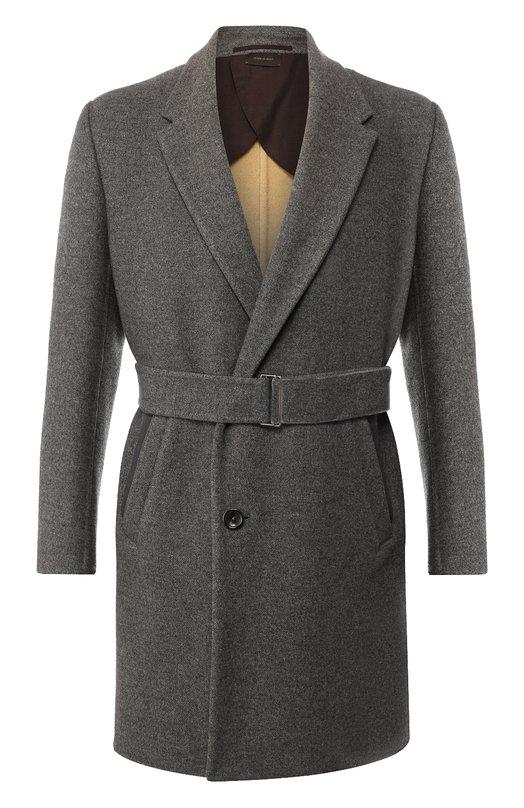 Купить Кашемировое пальто с поясом Zegna Couture, 487246/4E45N0, Италия, Серый, Кашемир: 100%; Подкладка-Текстиль: 100%;