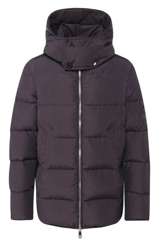 Купить Пуховая куртка на молнии с капюшоном Dolce & Gabbana, G9M09T/FUMQ7, Италия, Серый, Наполнитель-Гусиный пух: 80%; Наполнитель-Утиное перо: 20%; Подкладка-Полиэстер: 100%; Полиэстер: 100%;