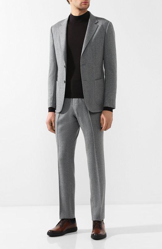 Купить Шерстяной костюм с пиджаком на двух пуговицах Z Zegna, 424710/2XPWGM, Мексика, Серый, Шерсть: 100%;