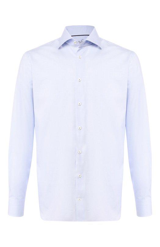 Купить Хлопковая сорочка с воротником кент Van Laack, RIVARA-PTF/151305, Тунис, Голубой, Хлопок: 100%;