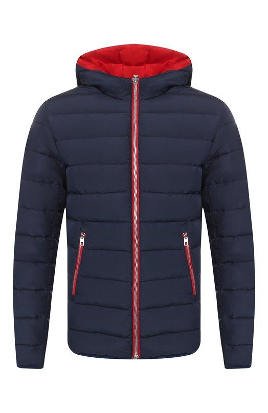 Купить Пуховая куртка на молнии Dolce & Gabbana, G9MP0T/FUMQ7, Италия, Синий, Наполнитель-гусиный пух: 70%; Наполнитель-перо утиное: 30%; Подкладка-полиэстер: 100%; Полиэстер: 100%;