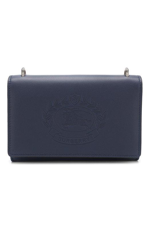 Купить Кожаная сумка Burberry, 4078002, Италия, Синий, Кожа: 100%;