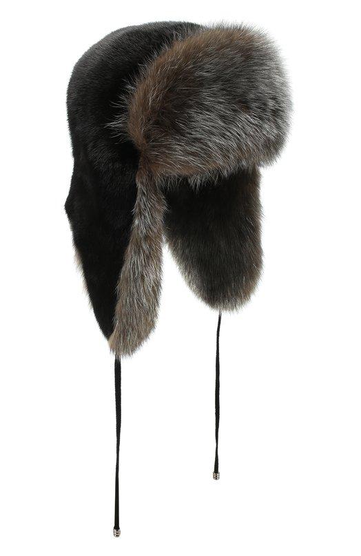 Шапка-ушанка из меха норки и лисы  Kussenkovv