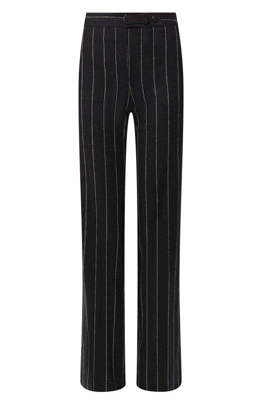 Шерстяные брюки в полоску Giorgio Armani, 8WHPP00Q/T002A, Италия, Темно-серый, Шерсть: 90%; Кашемир: 8%; Эластан: 2%;  - купить