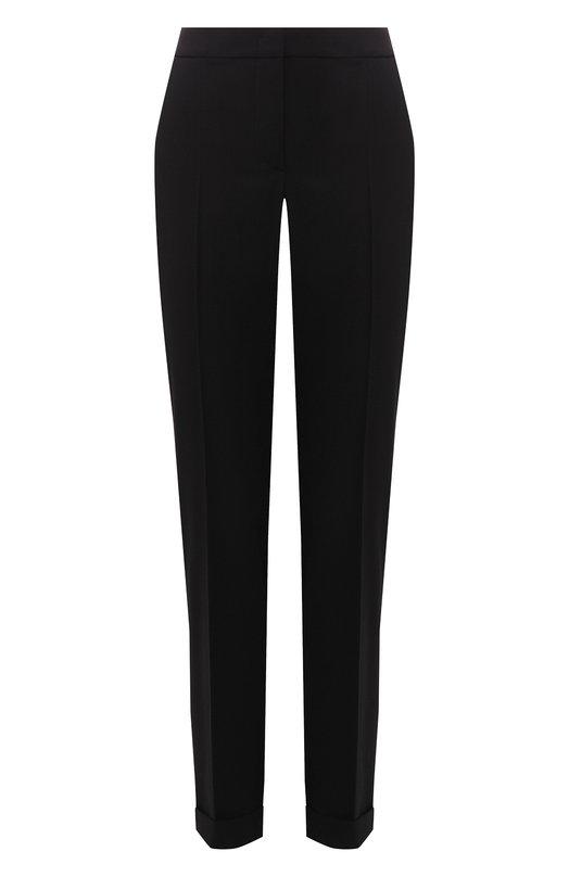 Купить Шерстяные брюки с отворотами Giorgio Armani, 8WHPP00D/T0084, Италия, Черный, Шерсть: 97%; Эластан: 3%;