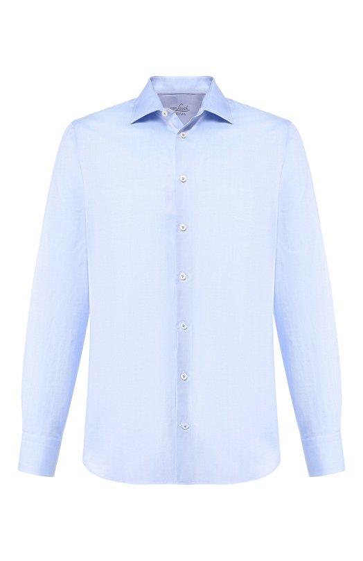 Купить Хлопковая рубашка с воротником кент Van Laack, RET-SFN/151436, Тунис, Голубой, Хлопок: 100%;