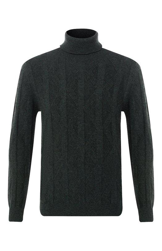 Купить Кашемировый свитер Kiton, UK1025, Италия, Темно-зеленый, Кашемир: 100%;