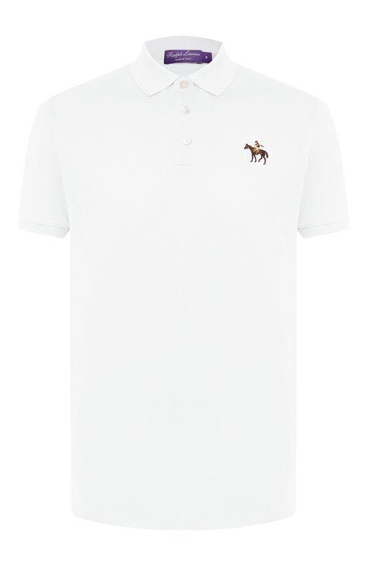 Купить Хлопковое поло Ralph Lauren, 790508036, Италия, Белый, Хлопок: 100%;