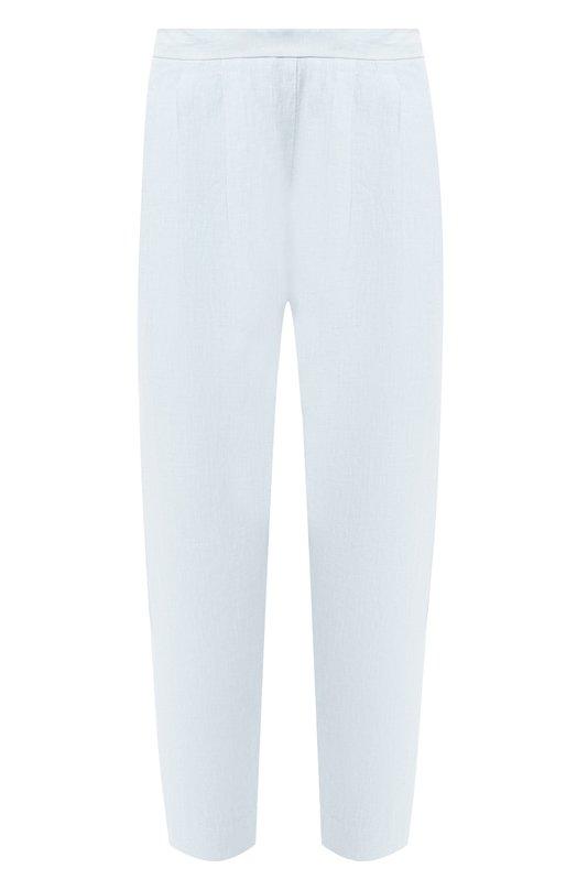 Купить Укороченные льняные брюки 120% Lino, P0W2977/0253/000, Болгария, Голубой, Лен: 100%;