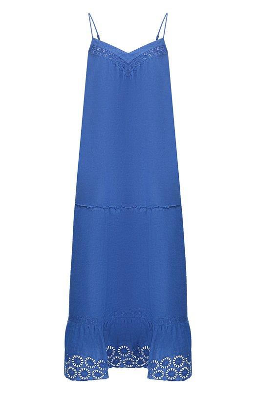 Льняное платье на бретельках 120% Lino