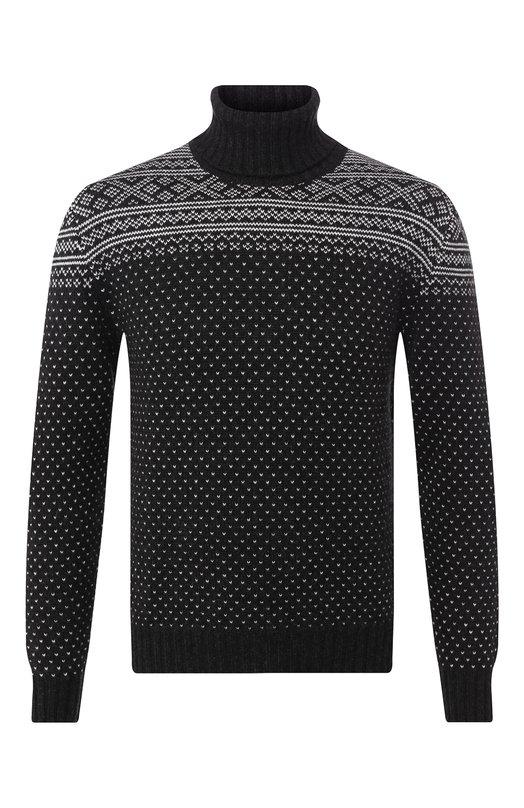Купить Кашемировый свитер Kiton, UK987/2, Италия, Черный, Кашемир: 100%;