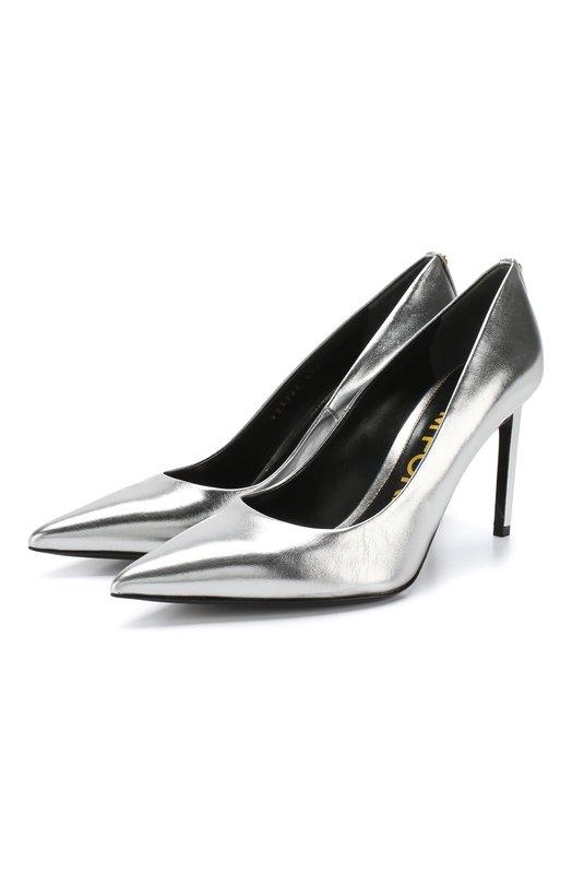 Купить Туфли из металлизированной кожи Tom Ford, W2326T-LSH, Италия, Серебряный, Подошва-кожа: 100%; Подкладка-кожа: 100%; Кожа: 100%; Низ-кожа: 100%;