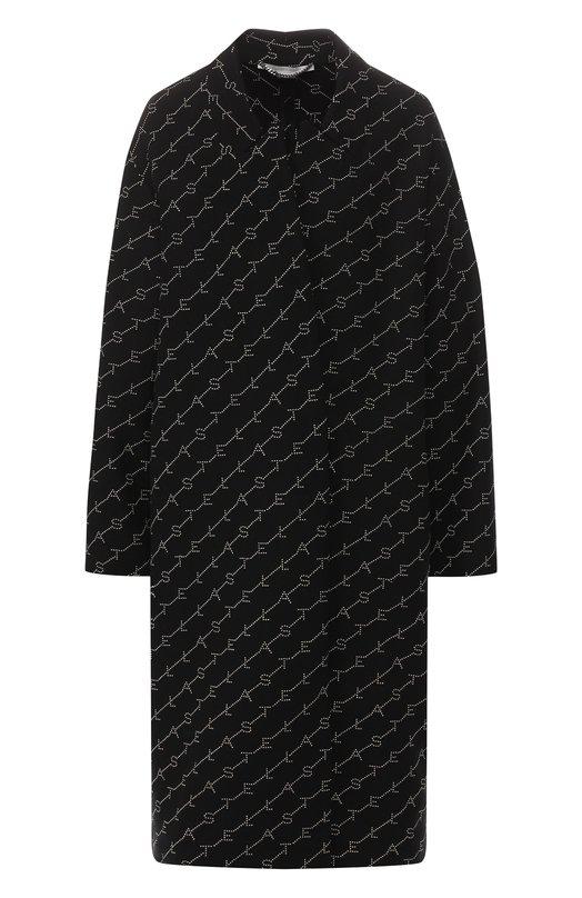 Купить Шерстяное пальто Stella McCartney, 549674/SMB11, Венгрия, Черный, Шерсть: 75%; Подкладка-вискоза: 52%; Подкладка-хлопок: 48%; Полиамид: 25%;