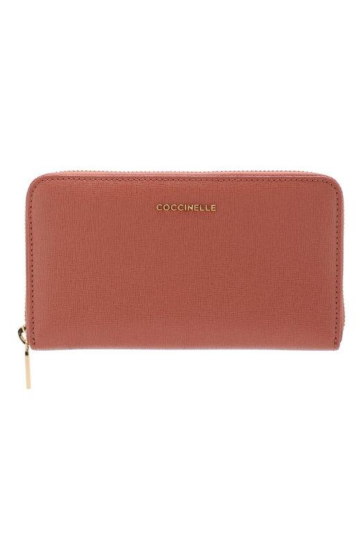 Купить Кожаный кошелек на молнии Coccinelle, E2 DW1 11 32 01, Китай, Коричневый, Кожа натуральная: 100%;