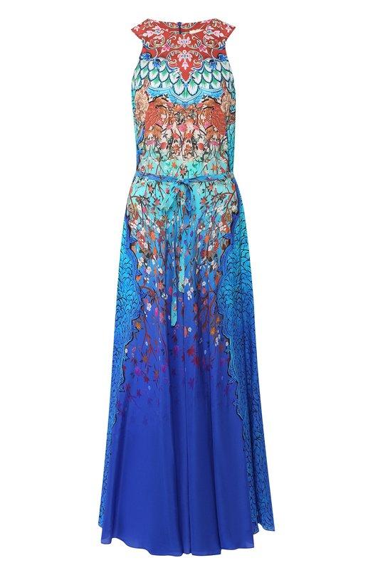 Шелковое платье с принтом Gottex