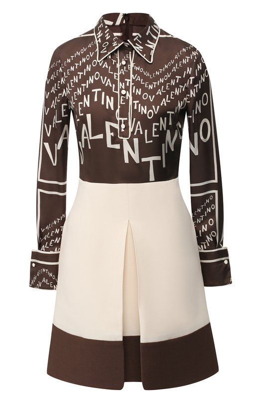 Платье из смеси шерсти и шелка Valentino Valentino
