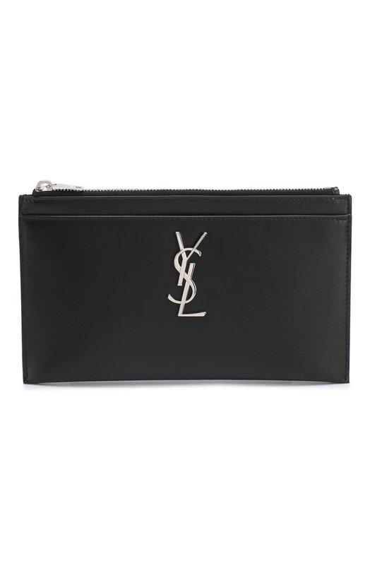 Купить Кожаный футляр для документов Monogram Saint Laurent, 554188/0U40N, Италия, Черный, Кожа: 100%;