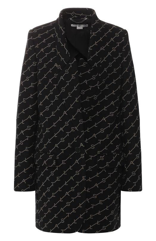 Купить Шерстяное пальто Stella McCartney, 554724/SMB11, Венгрия, Черный, Шерсть: 75%; Подкладка-вискоза: 52%; Подкладка-хлопок: 48%; Полиамид: 25%;