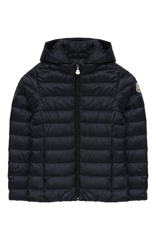 Купить Стеганая куртка с капюшоном Moncler Enfant, E1-954-46810-99-53048/12-14A, Армения, Синий, Подкладка-полиамид: 100%; Полиамид: 100%;