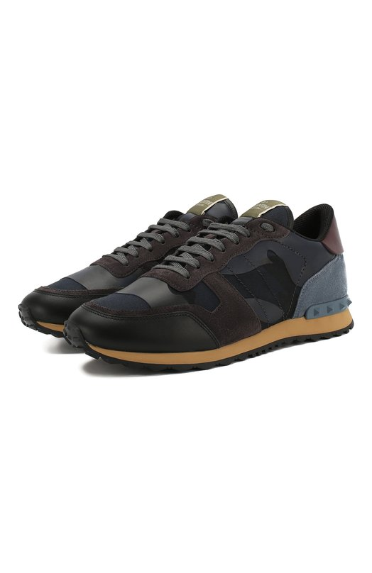 Комбинированные кроссовки Valentino Garavani Rockrunner Camouflage Valentino
