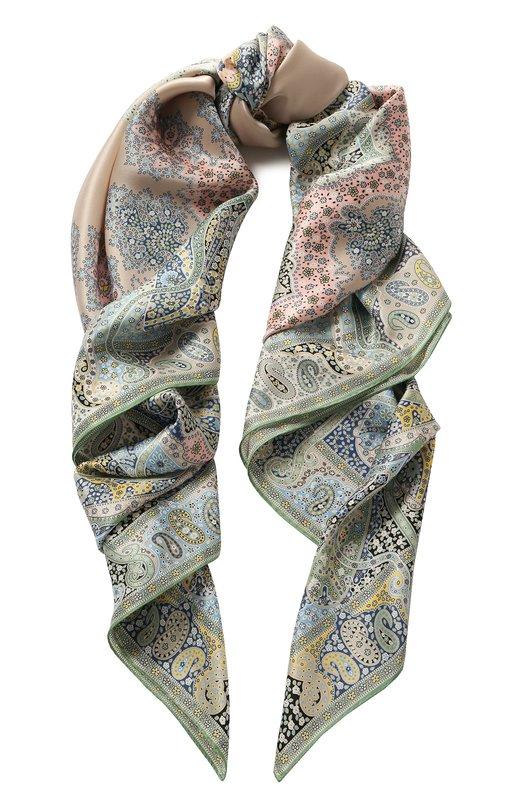 Купить Шелковый платок Michele Binda, 21535717, Италия, Светло-зеленый, Шелк: 100%;