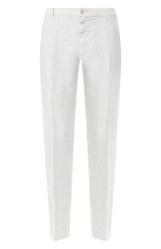 Купить Льняные брюки 120% Lino, P0M2957/0253/001, Болгария, Светло-серый, Лен: 100%;
