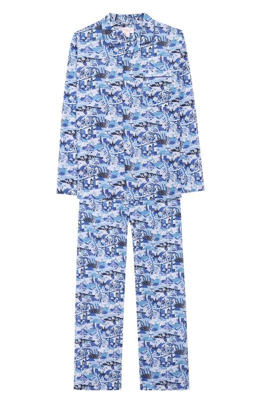 Купить Хлопковая пижама Derek Rose, 7025-LEDB019/13-16, Чехия, Голубой, Хлопок: 100%;