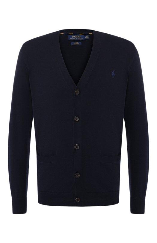 Купить Хлопковый кардиган Polo Ralph Lauren, 710744681, Китай, Темно-синий, Хлопок: 100%;