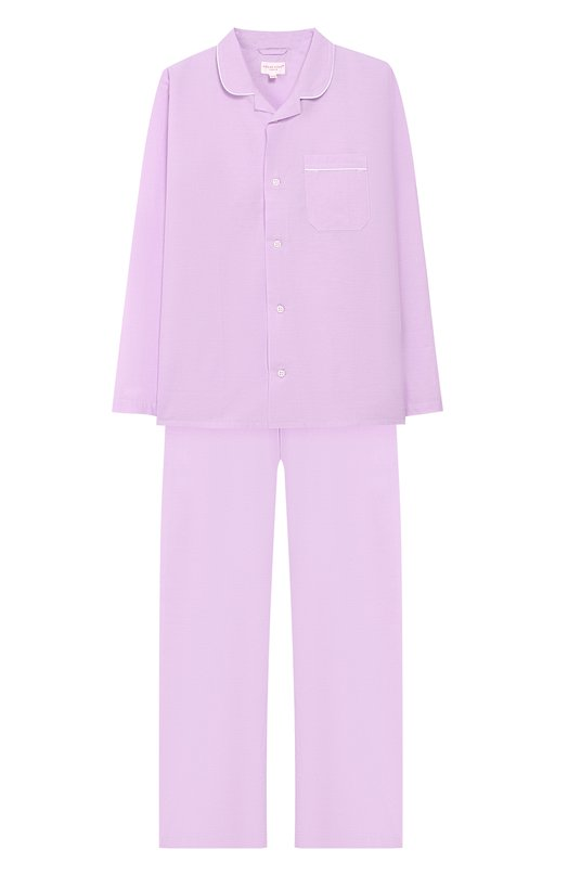 Купить Хлопковая пижама Derek Rose, 7025-AMAL001/13-16, Чехия, Сиреневый, Хлопок: 100%;
