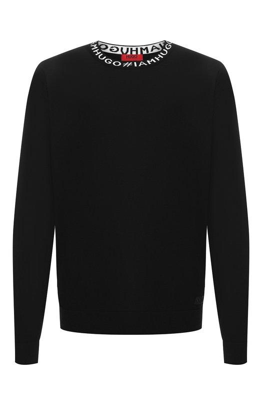 Купить Шерстяной джемпер HUGO, 50399688, Тунис, Черный, Шерсть: 100%;