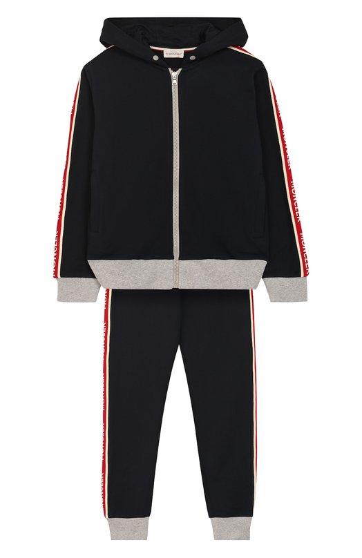 Комплект из хлопкового кардигана и брюк Moncler Enfant
