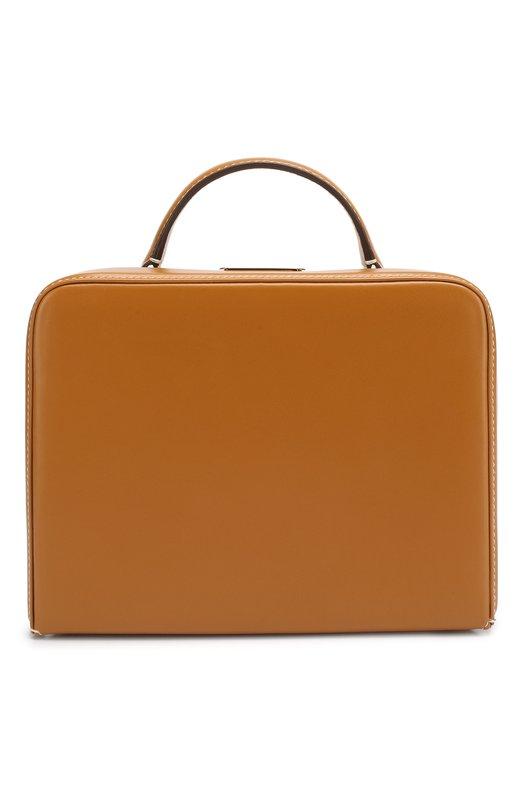 Купить Сумка Grace Small Box Mark Cross, W195346G, Италия, Коричневый, Отделка-кожа: 100%; Ротанг: 100%;