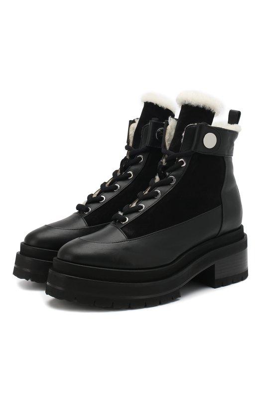 Купить Кожаные ботинки Penny с внутренней отделкой из овчины Pierre Hardy, RE04F/CALF-SUEDE CALF, Италия, Черный, Подошва-резина: 85%; Подошва-кожа: 15%; Кожа: 100%; Низ-мех/овчина/: 100%; Подкладка-мех/овчина/: 100%;