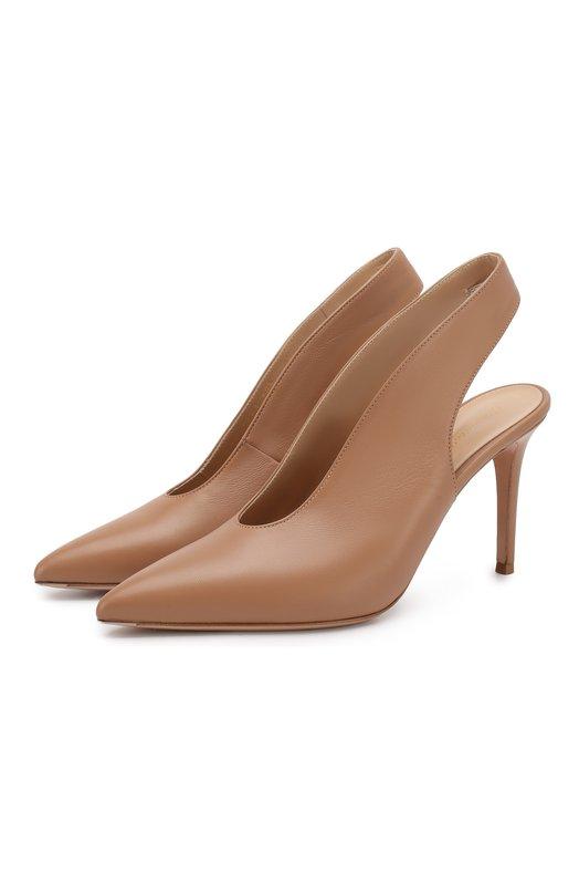 Купить Кожаные туфли Delta 85 Gianvito Rossi, G95007.85RIC.NAPPRAL, Италия, Розовый, Подошва-кожа: 100%; Подкладка-кожа: 100%; Кожа: 100%; Низ-кожа: 100%;