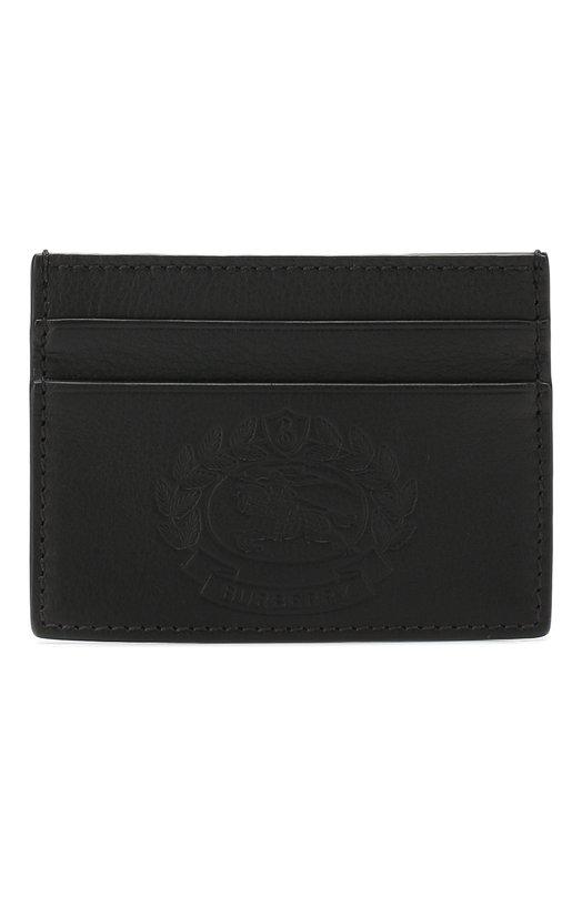 Кожаный футляр для кредитных карт Burberry, 4077837, Италия, Черный, Кожа: 100%;  - купить