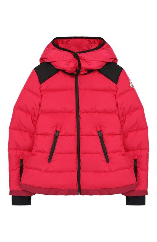 Купить Пуховая куртка с капюшоном Moncler Enfant, D2-954-46876-85-5399E/8-10A, Румыния, Фуксия, Наполнитель-гусиный пух: 90%; Подкладка-полиэстер: 100%; Полиамид: 100%; Наполнитель-перо гусиное: 10%;