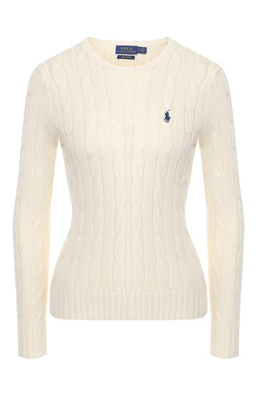 Купить Хлопковый пуловер Polo Ralph Lauren, 211580009/0S098C09, Китай, Кремовый, Хлопок: 100%;