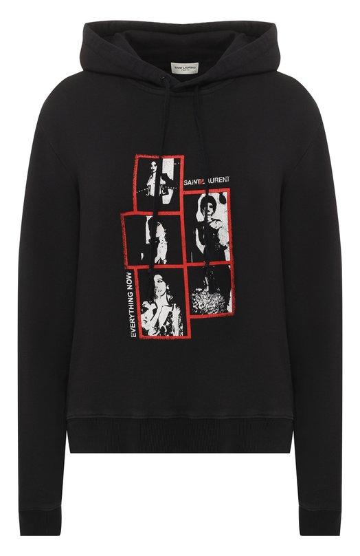 Хлопковый пуловер Saint Laurent