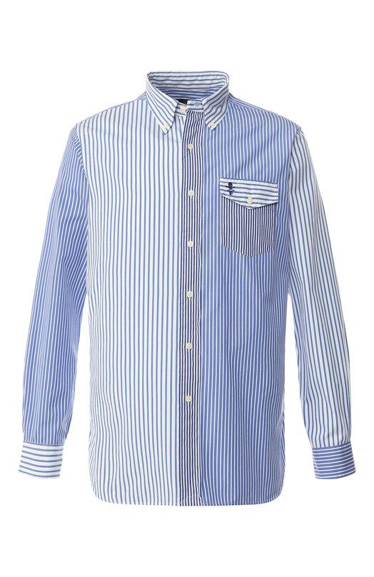 Хлопковая рубашка с воротником button down Polo Ralph Lauren, 710731754/3117, Шри-Ланка, Голубой, Хлопок: 100%;  - купить