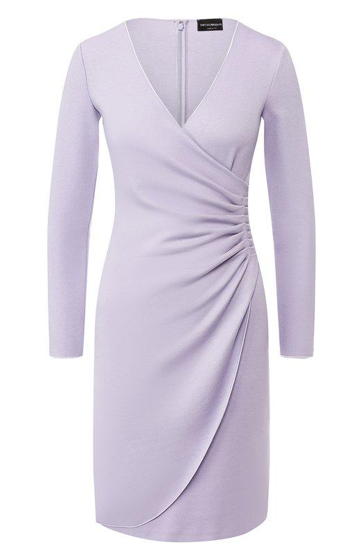 Купить Платье из вискозы Emporio Armani, 3G2A6G/2JFAZ, Италия, Сиреневый, Вискоза: 77%; Эластан: 6%; Полиамид: 17%;
