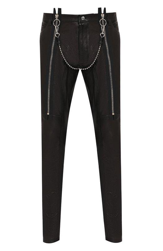 Купить Кожаные брюки Dsquared2, S74KB0250/SY1343, Румыния, Черный, Кожа: 100%;