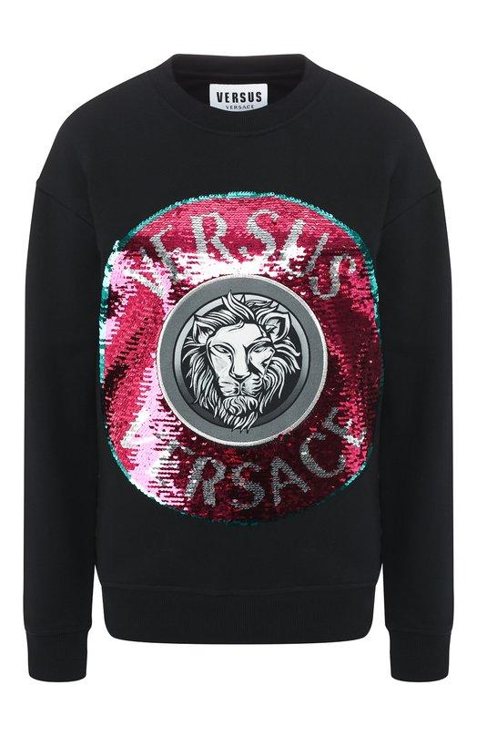 Хлопковый пуловер Versus Versace