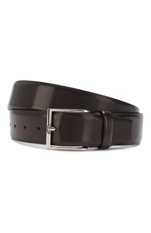 Купить Кожаный ремень Barrett, 82B547.3/EVERT0N, Италия, Темно-коричневый, Кожа: 100%;